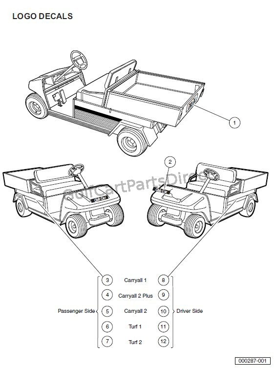 1545 2000 2005 carryall 1, 2 & 6 by club car club car parts & accessories club car carryall 1 wiring diagram at mifinder.co