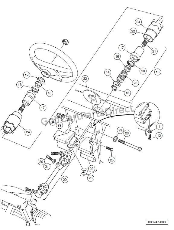 Club Car Steering Column Diagram