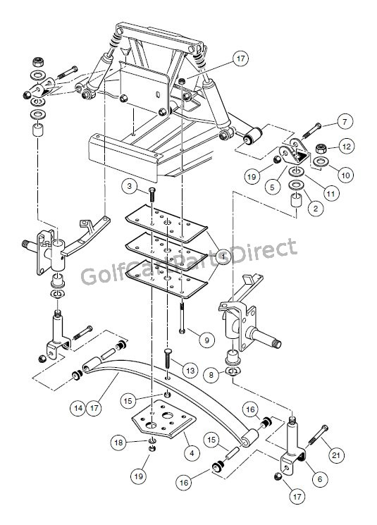1576 front suspension, lower carryall 2 plus and turf carryall 2 club car golf cart front suspension diagram at aneh.co