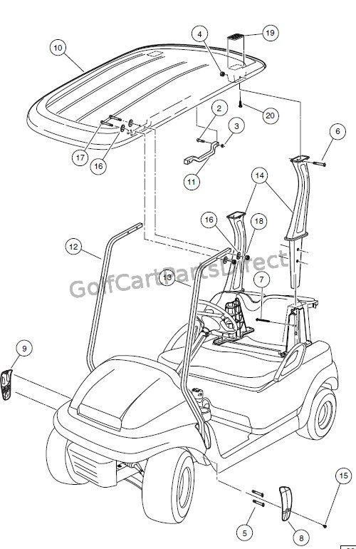 club car precedent steering diagram