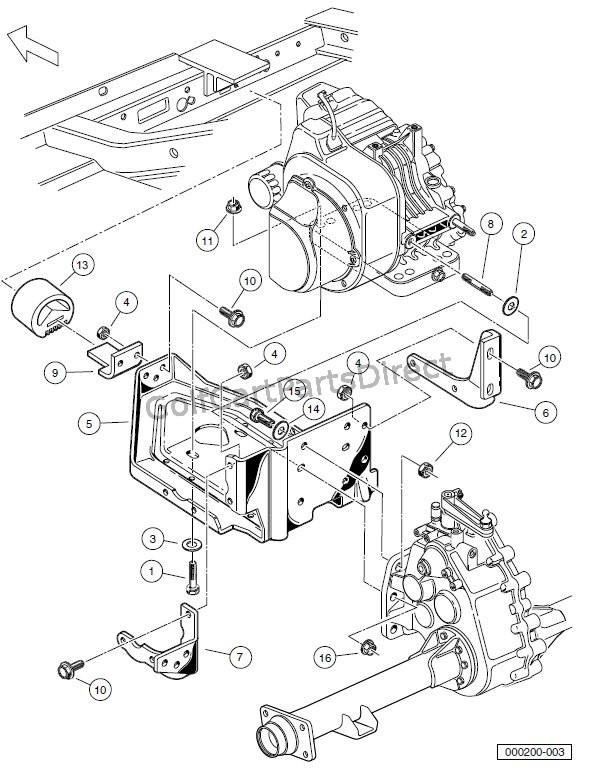 club car golf cart turn signal wiring diagram