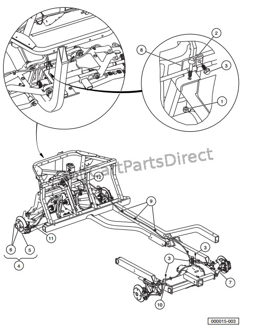 club car kawasaki engine diagram club car 36v wiring diagram 1975 2008 club car xrt 1550 or carryall 295 club car parts #11