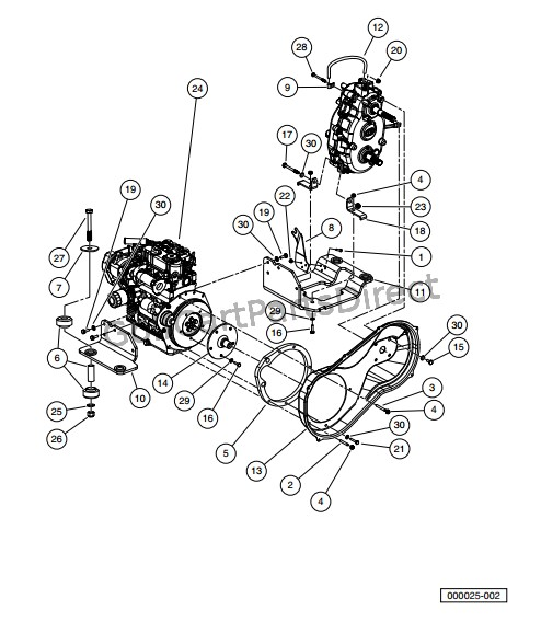 Kubota D722 Engine Parts Diagram