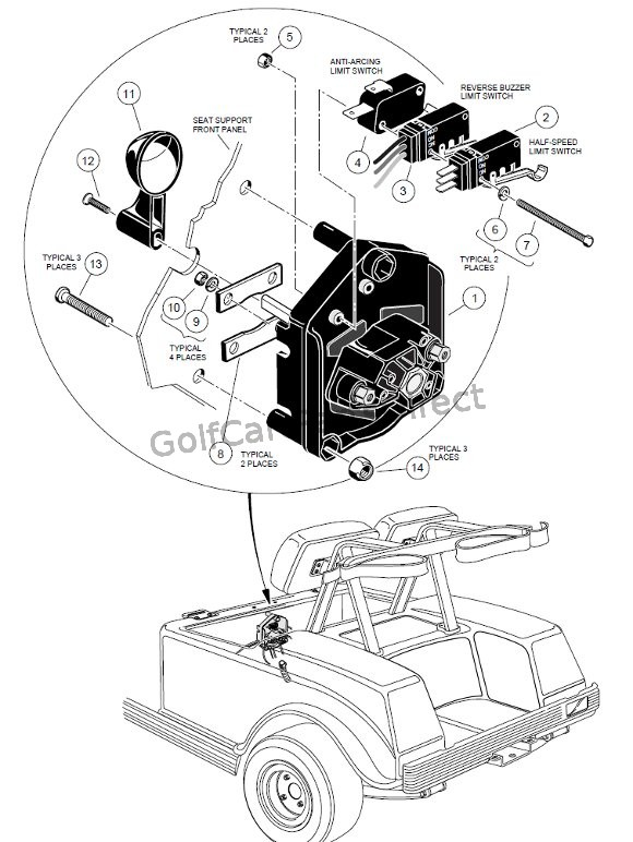 536 1998 1999 club car ds gas or electric club car parts & accessories 1986 club car wiring diagram at edmiracle.co