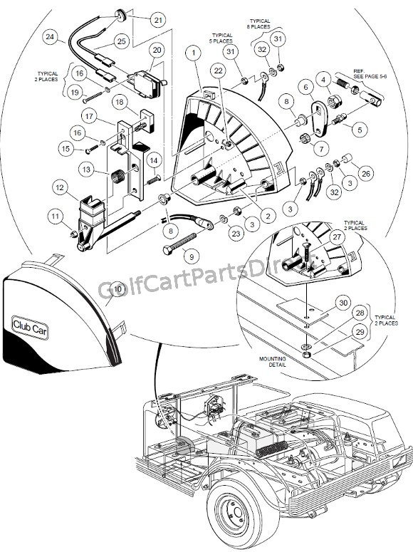 1998-1999 Club Car DS Gas or Electric - Club Car parts & accessories