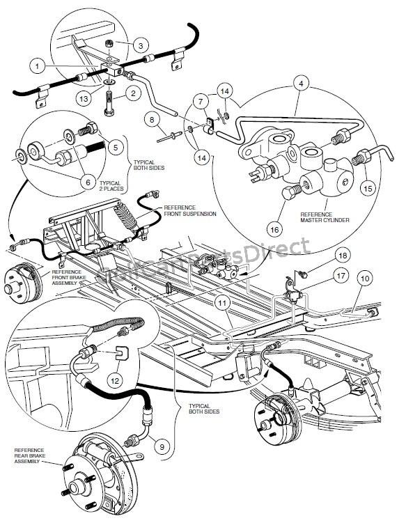 2001 2004 pioneer 1200 1200se club car parts accessories American Water Heater Diagram brake system hydraulic pioneer 1200 se vehicles
