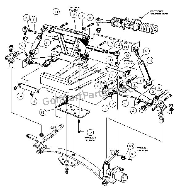 Golf Cart Rear Axle Diagram Golf Cart Golf Cart Customs
