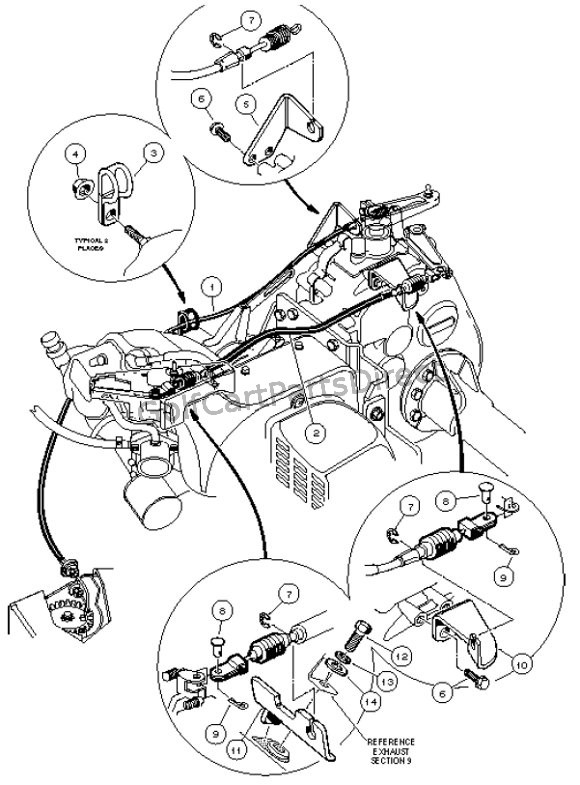 club car throttle cable diagram club car battery cable diagram