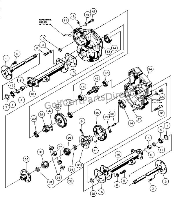 club car differential diagram transaxle - powerdrive electric vehicle - golfcartpartsdirect