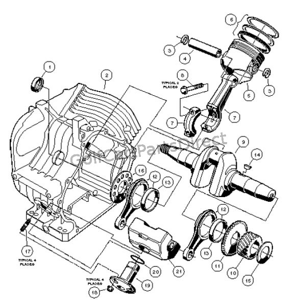 Club Car Engine Parts Diagram