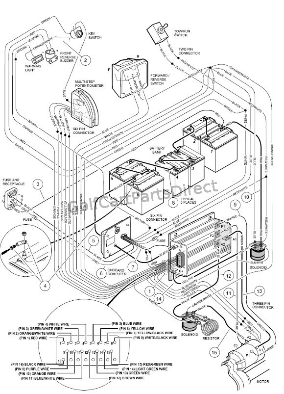 c10_wiring_48v_powerdrive_plus wiring powerdrive plus club car parts & accessories 97 club car wiring diagram at bayanpartner.co