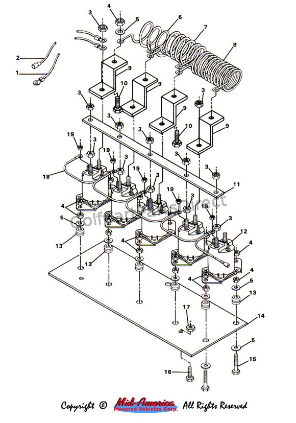 c1_solenoid solenoid and resistor assy club car parts & accessories 1986 club car wiring diagram at edmiracle.co
