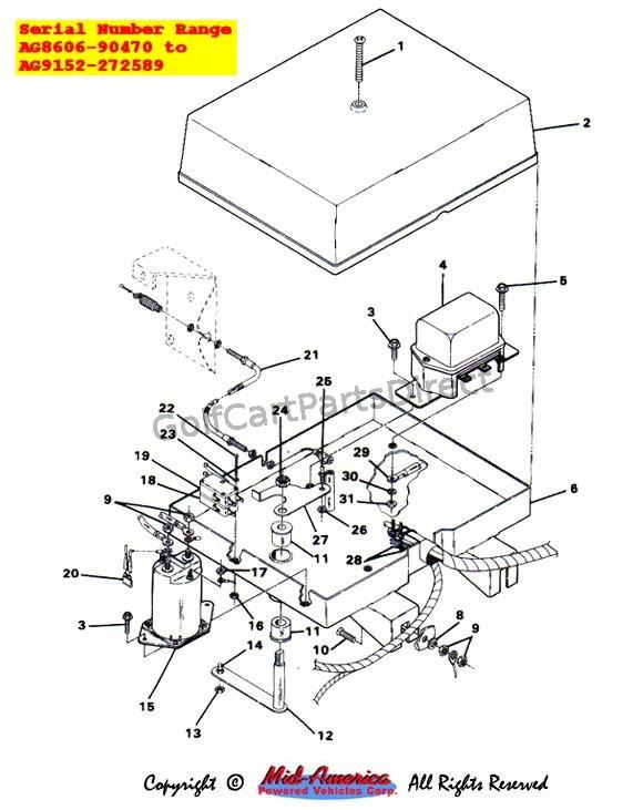 wiring diagram 1984-1991 club car ds gas - club car parts & accessories  on ezgo rxv