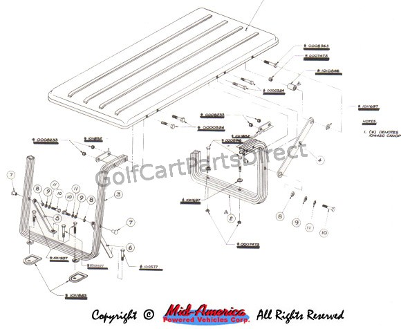 Canopy 4 Pass Club Car Parts Accessories