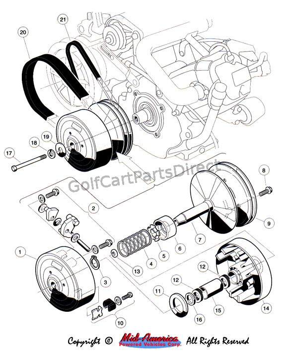 c3_drive_clutch 1992 1996 club car ds gas or electric club car parts & accessories yamaha golf cart engine diagram at sewacar.co