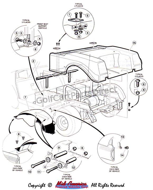 1992 1996 club car ds gas or electric club car parts accessories rh golfcartpartsdirect com ez go txt golf cart rear axle diagram ezgo marathon rear axle diagram