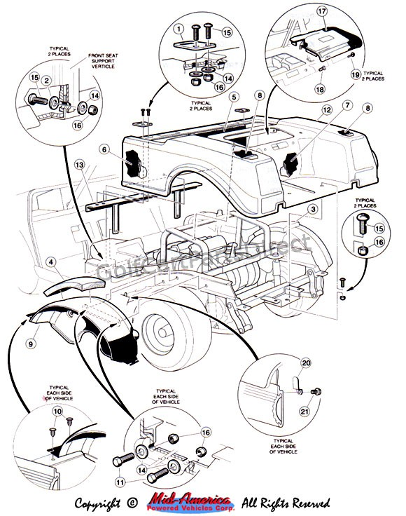 1992 Ga Club Car Part Diagram