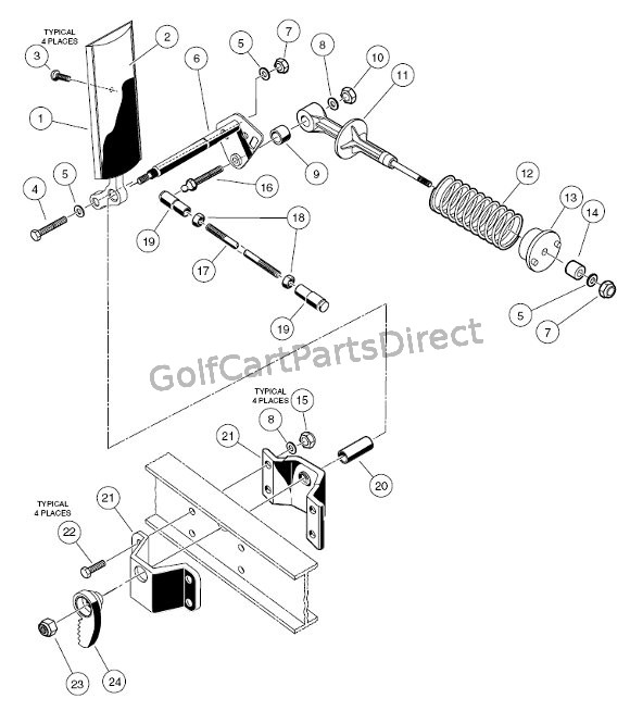 ezgo golf cart brake diagram