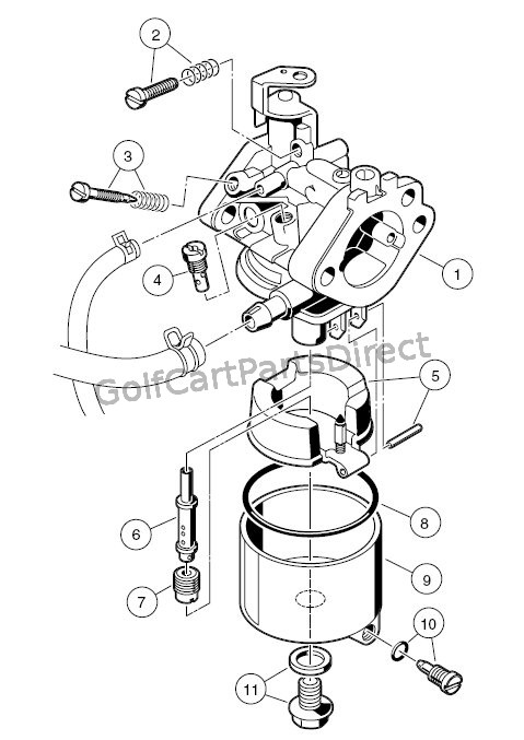 Yamaha Golf Cart Carburetor Diagram