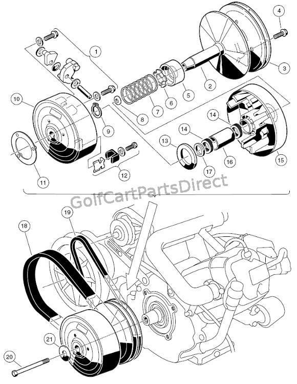 Club Car Drive Clutch Diagram