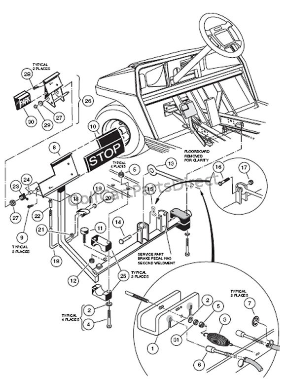 Ezgo Golf Cart Parts Diagrams