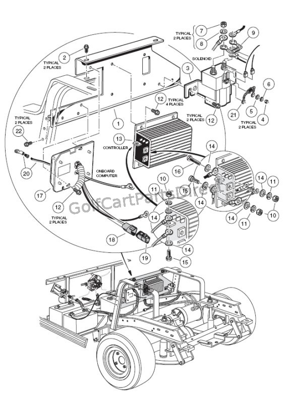 Club Car Wiring Harness
