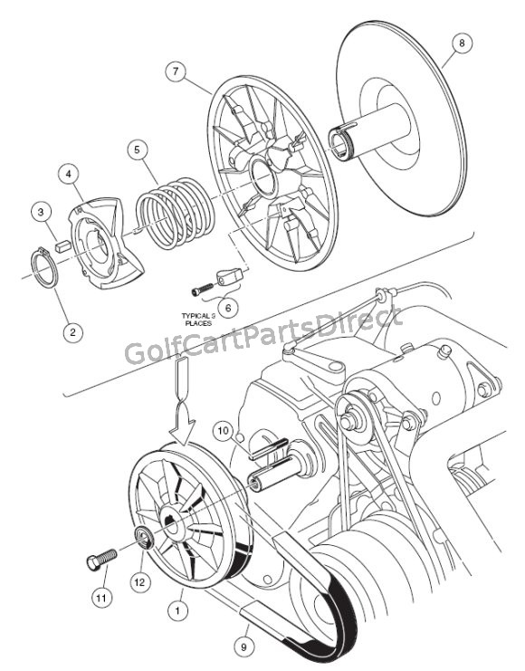 Ezgo Golf Cart Rear Axle Diagram Golf Cart Golf Cart Customs