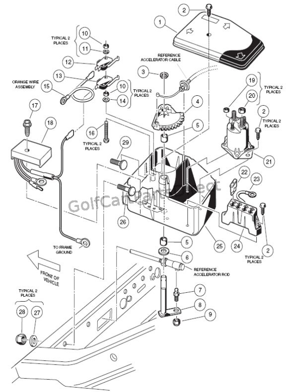 2006 Club Car Precedent Gas Wiring Diagram : Electrical box gas club car parts accessories
