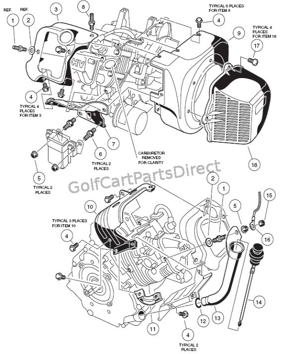 golf cart ignition wiring diagram golf cart golf cart customs EZ Go Wiring Schematic