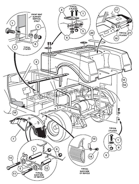2000 2005 Club Car Ds Gas Or Electric