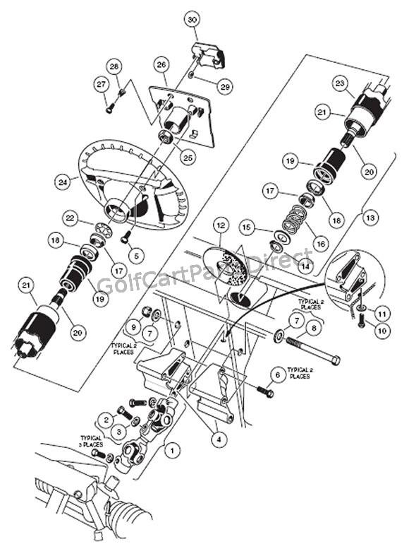 2000 subaru engine diagram subaru engine diagram 25 steering column club car parts amp accessories