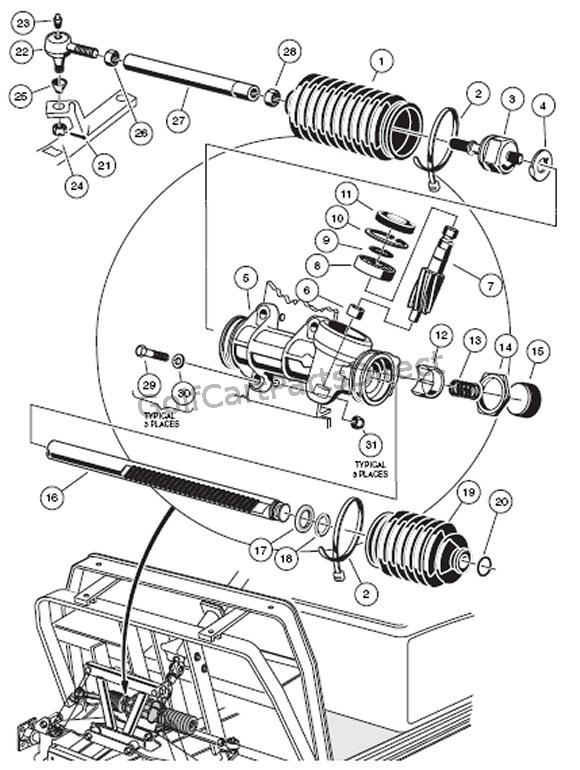 Yamaha Golf Cart Steering Diagram