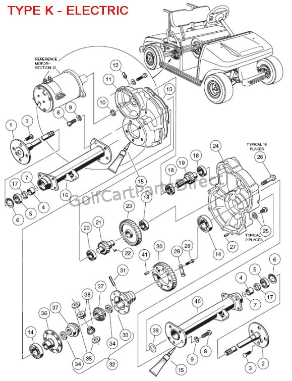 Ezgo Golf Cart Differential Diagram Ezgo Get Free Image