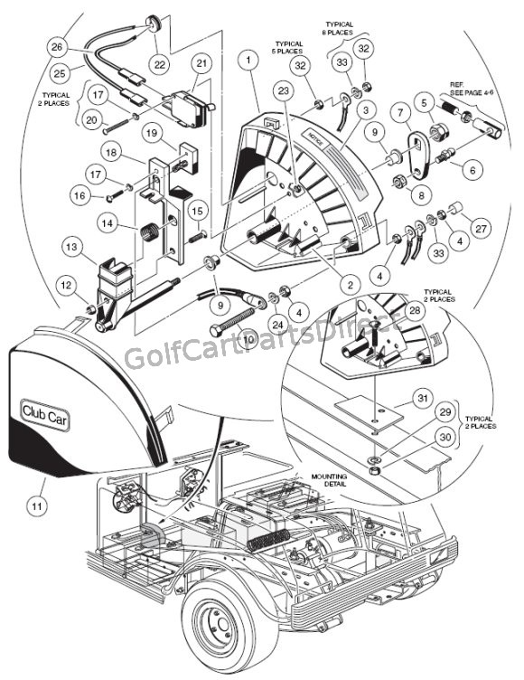 1994 club car v glide wiring diagram wiper switch - 36v v-glide - golfcartpartsdirect