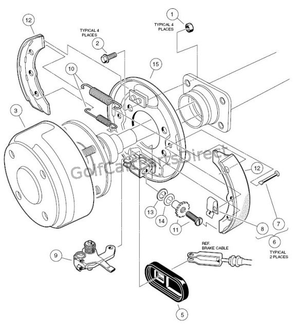 Yamaha G2 Brake Diagram