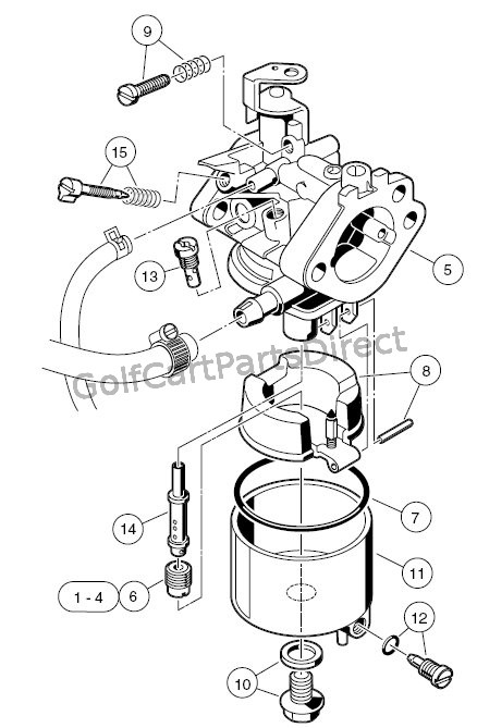 2011 05 01 archive in addition Ezgo 2 Stroke Engine Diagram together with Kawasaki Fe350 Engine Diagram also 1998 1999ClubCarGasElectric also Engine Parts List 1. on club car carburetor diagram