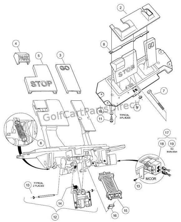 Ez Go Golf Cart Ignition Wiring Diagram Golf Cart Golf Cart Customs