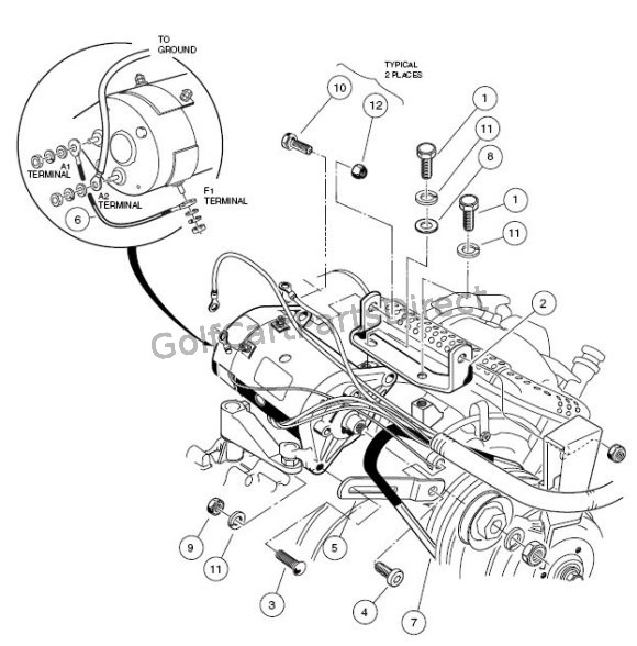 c6_starter_generator_mounting_fe290 2004 2007 club car precedent gas or electric club car parts gas club car golf cart wiring diagram at creativeand.co