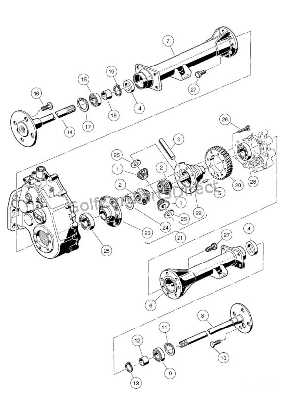 transaxle - gasoline, differential & axles ... 1992 club car battery diagram