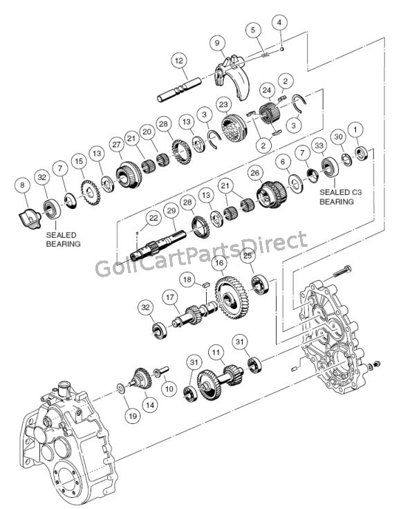 Unintized Transaxle F Amp R Transmission Gear Reduction