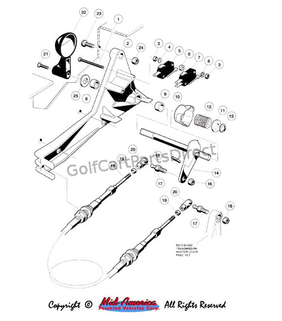 For And Rev Shifter Gas Club Car Parts Amp Accessories