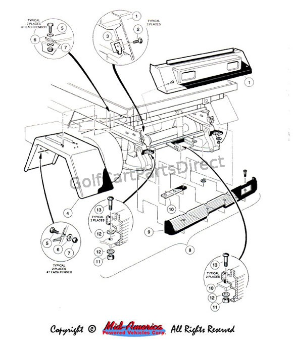 1988 club car engine diagram